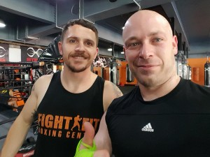 My trainer Dave Trotter. Not quite as mean as he looks.